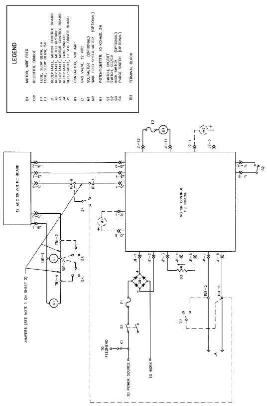 figure 2 11 wire feeder welder schematic sheet 1 of 2 rh constructionmisc tpub com Wiring Schematic Symbols Wiring Schematics for Cars